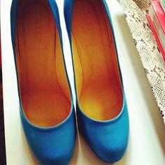 J. Crew blue heels :)