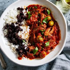 """There are few dishes as quintessentially Cuban as ropa vieja, which translates to """"old clothes"""" in Spanish. Pair it with yuca hervida con mojo or arroz congri. Beef Recipes, Healthy Recipes, Yummy Recipes, Weeknight Recipes, Yummy Food, Yummy Eats, Cooker Recipes, Healthy Food, Tasty"""