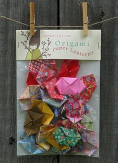 Origami Lanterns 100 Handmade Paper Lanterns Assorted by pipodoll