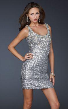 La Femme 17413 Sequin Short Homecoming Dress