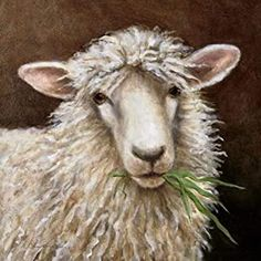 diamond painting for adults: Arts, Crafts & Sewing Sheep Paintings, Animal Paintings, Sheep Face, Sheep Crafts, Cow Painting, Sheep And Lamb, Tier Fotos, Felt Art, Pictures To Paint