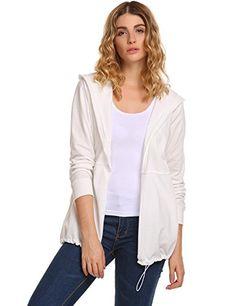 8971a995bab5ec BeautyUU Unibelle Women Open Front No-Zipper Hoodie Fashion Casual Long  Sleeve Drawstring Hooded Cardigan with Pockets