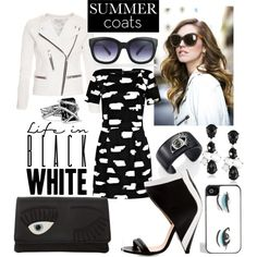 """""""eye love black and white"""" by kc-spangler on Polyvore"""
