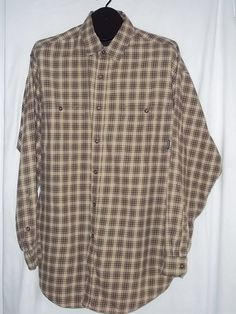 Patagonia Multi Color Long Sleeve Plaid Button Front CottonCasual Shirt Size: XL #Patagonia #ButtonFront