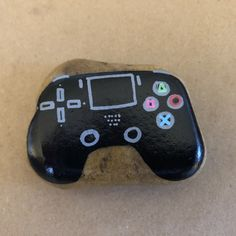 PS4, game controller, painted rocks, Kindness Rocks Project, Inspirational, painted rocks, rock painting, gradient paint, hand lettering, Posca pens, Kindness Rocks Project Pebble Painting, Pebble Art, Stone Painting, Rock Games, Rock Painting Designs, Doll Painting, Kindness Rocks, Posca, Game Controller