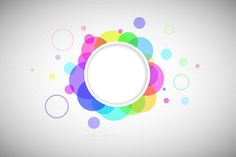 Background. Abstract. Page design. Round form with colored circles by NikSorl on Creative Market