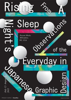 Japanese Exhibition Poster: Rising From A Night's Sleep. Ryo Kuwabara. 2015  Gurafiku's first exhibition of Japanese graphic design titled Rising From A Night's Sleep: Observations of the Everyday in Japanese Graphic Design opens July 12 at Present...
