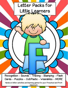 LETTER F Letters for little learners, 62 pg. - recognition, sound, tracing and craftivities. Low prep. Appropriate for pre-readers