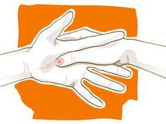 Drei Minuten Finger-Yoga am Morgen, mittags und abends fördertdie Gesundheit und geistige Entspannung. Die Yoga-Formhilft auchakut bei Kopfschmerzen.