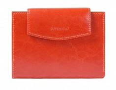Czerwonr pomarańczowe portfele