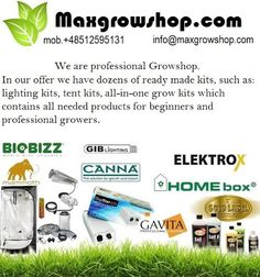 Max grow shop is one of the best online grow & hydroponic shop that offer a wide range of products and services to their valuable clients. Hydroponics Store, Hydroponic Supplies, Grow Shop, Grow Kit, Grow Lights, All In One, Shopping