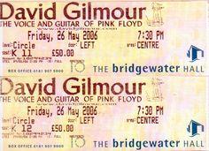 David Gilmour at David Gilmour at The Bridgewater Hall (26 May 06)
