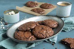 Oppskrift på brownie cookies.