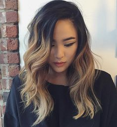 Black To Light Brown Ombre Hair