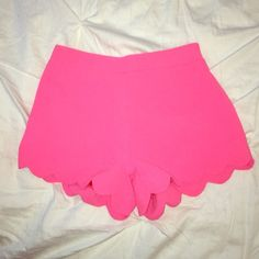 NWOT Scalloped Shorts NWOT by the Vintage shop I absolutely love these pink scalloped shorts! Perfect for summer The Vintage Shop Shorts