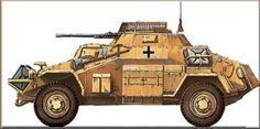Painting of German Military Vehicles in North Africa ~ The Deutsches Afrikakorps Online Archive
