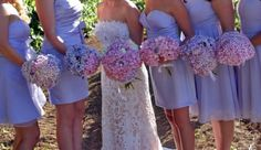 Our bouquets : wedding pink purple bouquet flowers Bouquets All Girls