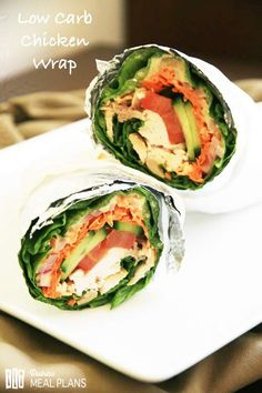 Low Carb Chicken Lettuce Wrap