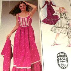 Dress Sewing Pattern UNCUT Gunne Sax by hookandneedlepattern, $7.00