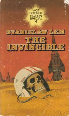 The Invincible (Lem, Stanislaw.1964) - A novel where humans land on a new planet and discover a form of mechanical life that is small and insect like, and through misjudgment, the humans are overpowered and a less superior species. I have chosen this as it focuses on how evolution doesn not mean superiority in the long term.