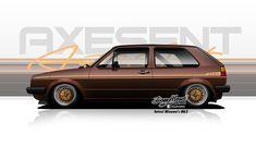 AXESENT (Posts tagged mk2) Golf Mk2, Car Drawings, Custom Cars, Digital Illustration, Muscle Cars, Volkswagen, Cool Art, Classic Cars, Japan