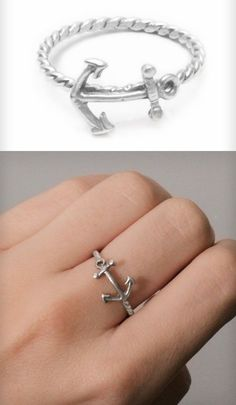 Anchor Ring in Silver