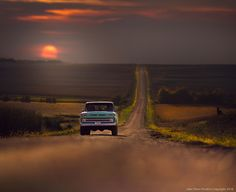 Truck'n by Jake Olson Studios Vintage Pickup Trucks, Old Trucks, Chevy Trucks, Western Photography, Nature Photography, Old Truck Photography, Country Backgrounds, Us Cars, To Infinity And Beyond