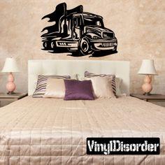 Semi Truck Wall Decal - Vinyl Decal - Car Decal - DC 046