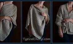Simple Crochet Wrap - Free Pattern from TypicalCheryl.com. Simple even for beginners. Wear it three ways.