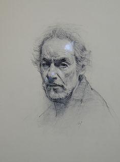 David Leffel - Self-Portrait (drawing)