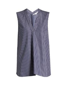 V-neck striped cotton top  | Stella McCartney | MATCHESFASHION.COM
