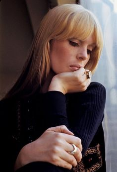 Nico (Singer with The Velvet Underground) and former German model.