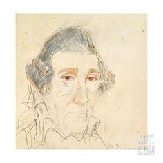 Franz Joseph Haydn (1732-1809) 1990 Giclee Print by Horst Janssen at Art.com