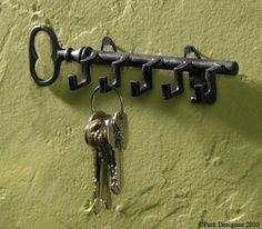 389580d0ce25 Amazon.com  Key Shaped Key Hook Rack Antiqued Look  Home   Kitchen