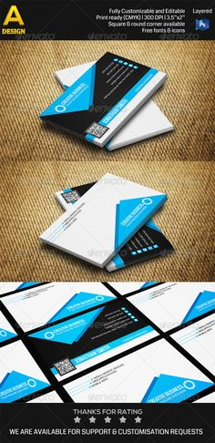 Corporate Business Card PSD Print Templates| Print Ready | Buy and Download: http://graphicriver.net/item/corporate-business-card-an0355/7335015?WT.ac=category_thumbWT.z_author=annozioref=ksioks