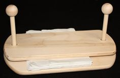 Don't let your napkins fly away this time! Flat Napkin Holder, Unfinished Wood