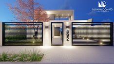 House Fence Design, Modern Fence Design, Front Gate Design, Door Gate Design, Railing Design, Modern House Design, Dream House Exterior, Dream House Plans, House Design Pictures