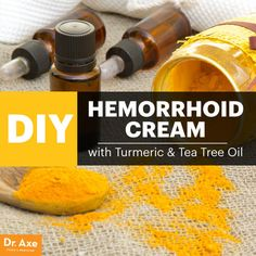 DIY Hemorrhoid Cream with Turmeric & Tea Tree OilNo one wants to talk about embarrassing hemorrhoids, but they affect about 4 percent of U. How you treat hemorrhoids depends on the severity. Natural Treatments, Natural Remedies, Herbal Remedies, Health Remedies, Turmeric Essential Oil, Tea Tree Essential Oil, Essential Oils, Doterra, Health Tips