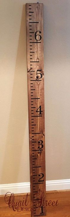 Plans of Woodworking Diy Projects - Hand Painted Wood Growth Chart Ruler - Custom Colors - Made in Texas Get A Lifetime Of Project Ideas & Inspiration!