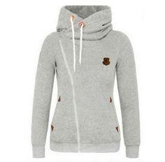 Women hoodies 2017 Autumn outerwear fashion casual sweatshirt loose plus size long-sleeve XXXXXL zipper vestidos clothing girl Hoodie Sweatshirts, Pullover Hoodie, Long Hoodie, Hoodie Jacket, Sweater Hoodie, Bomber Jacket, Hooded Cardigan, Fleece Hoodie, Grey Sweatshirt
