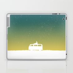 """Few things teach you more than traveling alone. Budi Satria Kwan's """"Quiet night and starry sky"""" is a beautiful laptop or iPad skin, available for PC/Mac/iPad in several sizes at Society6."""