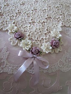 Angela Lace: Pink Coverlet