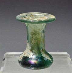 Roman Glass Squat Unguentarium