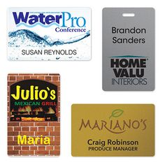 Don't send your employees out with plain name tags! We'll work with you to create fun custom tags that will help them wear your brand proudly. Website: www.misterpromotion.com Email: sales@misterpromotion.com Phone: 212-677-7666