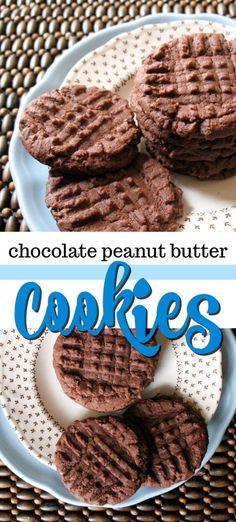 Chocolate peanut butter cookies are the best of both worlds. If you love soft chewy peanut butter cookies this chocolate version is for you! Cookies And Cream Cake, Cake Mix Cookies, Yummy Cookies, Cupcakes, Cake Mix Cookie Recipes, Best Cookie Recipes, Cookie Desserts, Dessert Recipes, Holiday Recipes