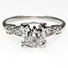 A vintage engagement ring is an eco-consicious way of wearing bling.