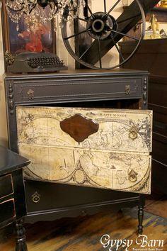 Gypsy Barn: The Map Dresser Makeover