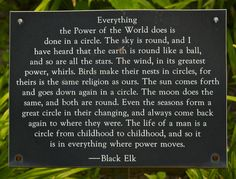 Black Elk quote at Cathedral Labyrinth and Sacred Garden | Flickr - Photo Sharing!