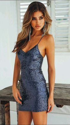 You'll always be the center of attention when you're wearing our sparkly Fashion Capital Dress! This style has a V neckline, padding on the bust and it has stretchy crossover shoulder straps. It also has an invisible side zip and looks SO stunning when pa Semi Dresses, Glam Dresses, Tight Dresses, Dance Dresses, Pretty Dresses, Short Tight Formal Dresses, Short Sparkly Dresses, Homecoming Dresses Tight, Prom Dress Shopping