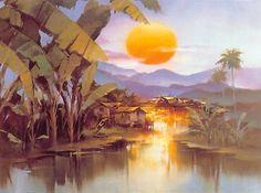 'Mai'a Sunset' by Hong Leung